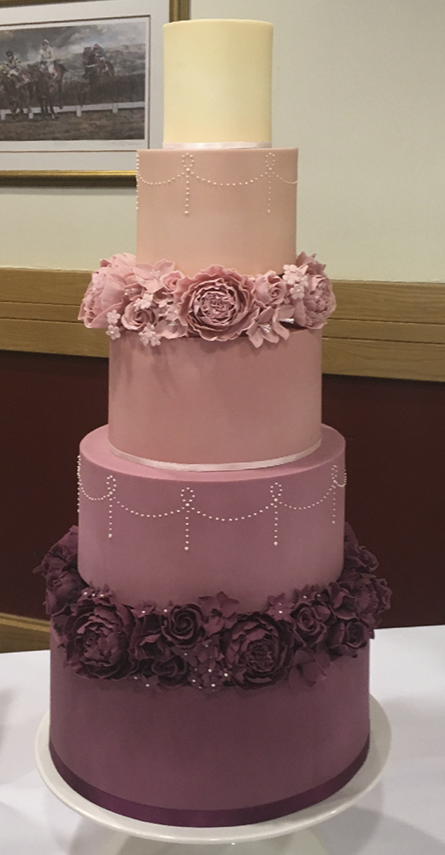 Latest cake pic-3 tier red