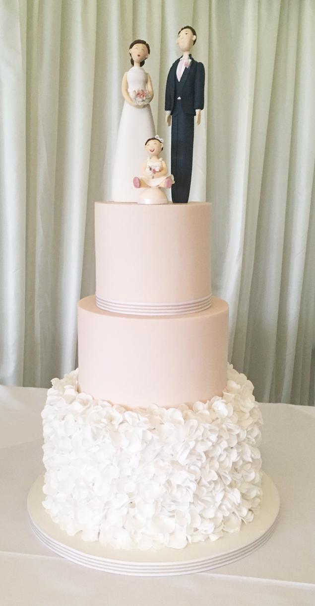 Ruffle Cake and Baby